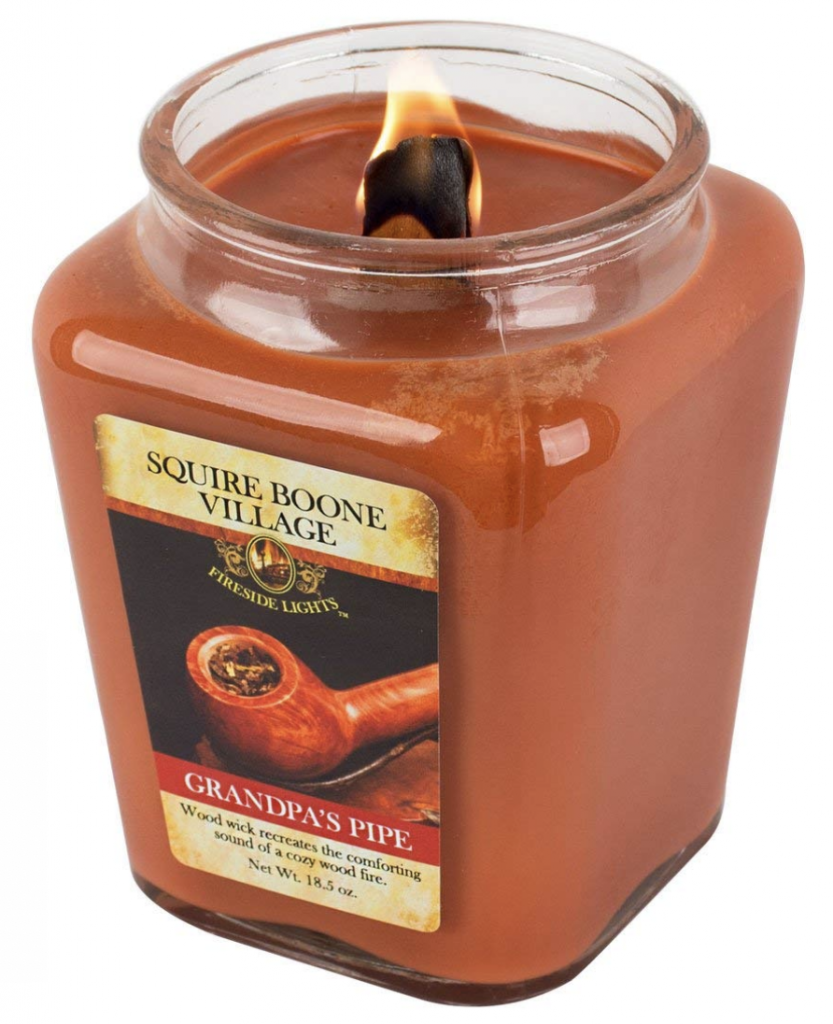 Squire Boone's Wooden Wick Fireside Scented Soy Candle