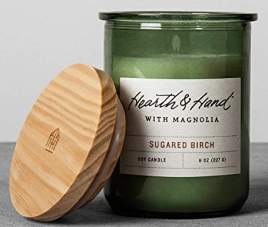 Hearth and Hand Magnolia Lidded Jar Container Soy Candle